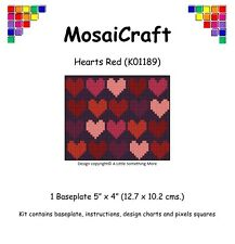 MosaiCraft Pixel Craft Mosaic Art Kit 'Hearts Red' Pixelhobby