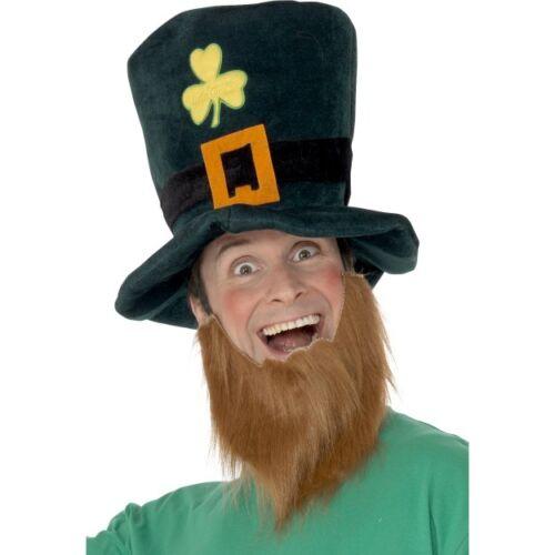 Women/'s Men/'s St Patrick/'s Day Irish Fancy Dress Celebrations Hat /& Beard Set
