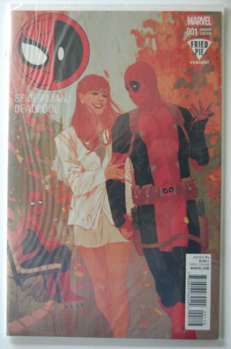 Marvel 2016 Fried Pie Variant Still Poly-bagged! SPIDER-MAN//DEADPOOL #1 NM-