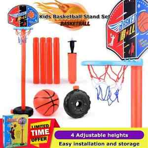 Kid-Free-Standing-Basketball-Hoop-Net-Backboard-Stand-Set-Adjustable-Portable