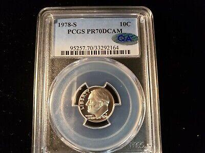 1978-S Roosevelt Dime PR70DCAM PCGS Proof 70 Deep Cameo