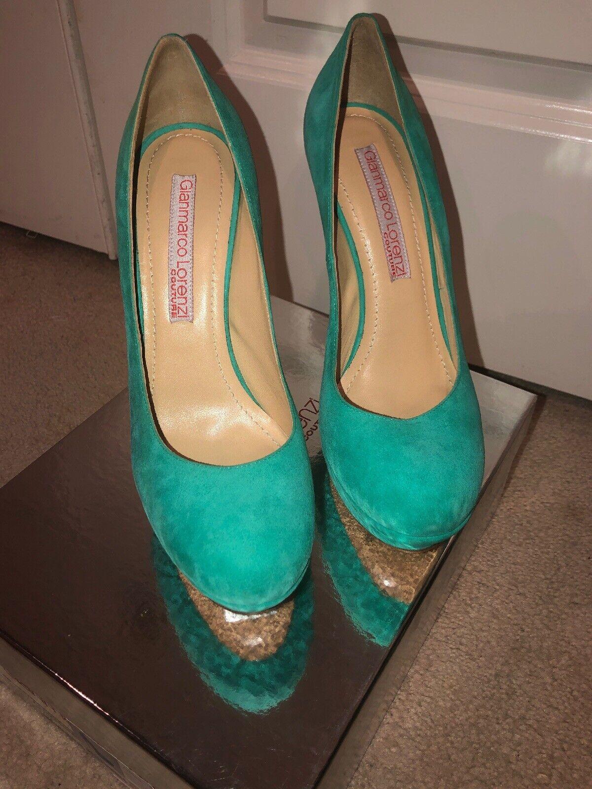 Bombas de GIANMARCO LORENZI Cuero verde-Talla 41-Couture Collection Nuevo Nuevo Nuevo Y En Caja  el más barato