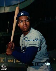 Tommy-Davis-Signed-8X10-Dark-Photo-Autograph-Los-Angeles-Dodgers-w-Bat-Auto-COA