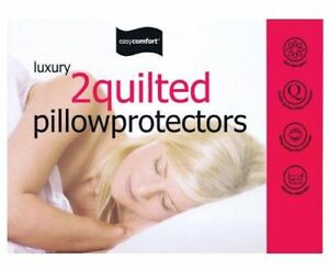 2-x-Easycomfort-Luxury-Quilted-Bed-Bedroom-Pillow-Protector
