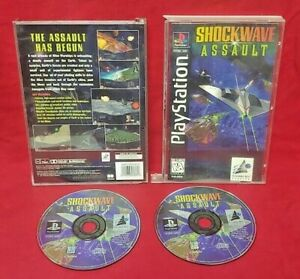 ShockWave Assault Playstation 1 2 PS1 PS2 Game Complete Works Long Box LONGBOX