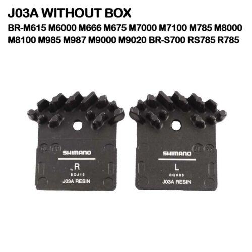SHIMANO G01S G02A J02A J03A J04C Disc Brake Pads Resin Metal Cooling Fins XTR XT