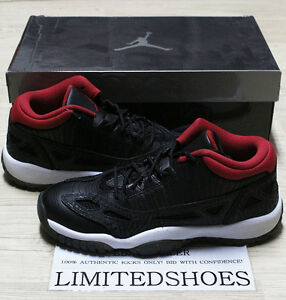 Details about NIKE AIR JORDAN XI 11 RETRO LOW GS BLACK RED WHITE 306006 001 bred cobalt gold