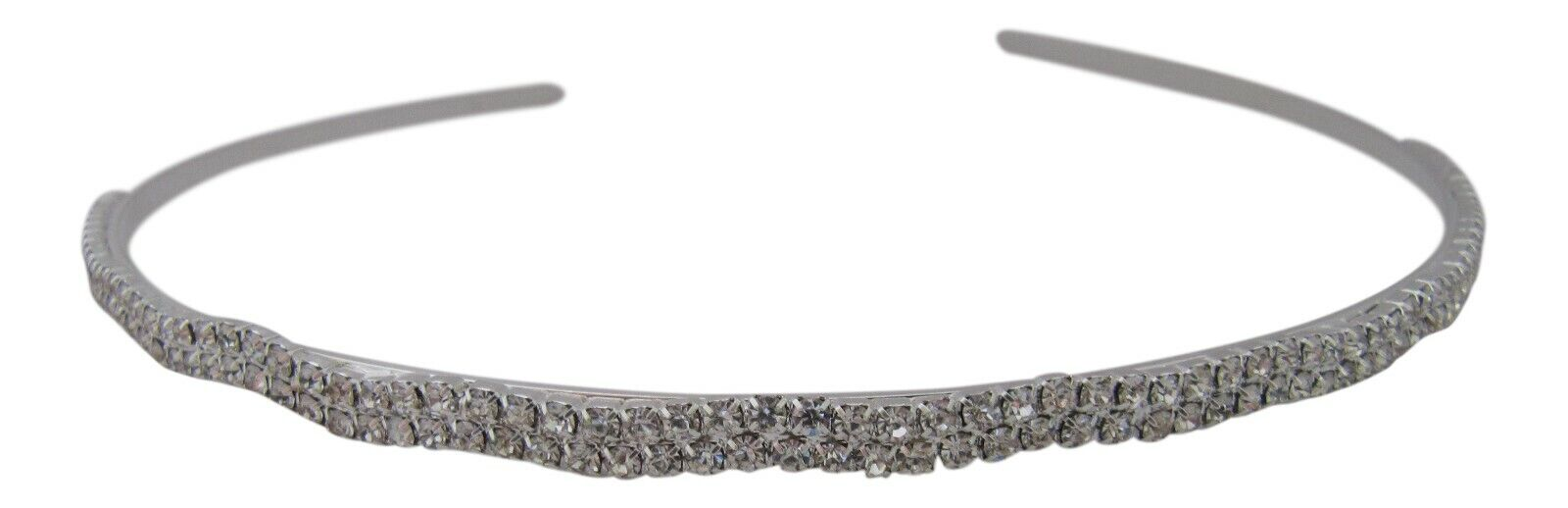 Bridesmaid Flower Girl Prom Sparkling Clear Crystal Slim Hairband Alice Band New