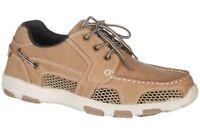 Reel Legends Mens Atlantic Drainage Boat Shoes (Parchment Beige / Brown)