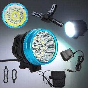 Brightness 35000LM 11X XM-L T6 LED Head Torch Front Bicycle Bike Light Headlight