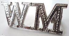 WM Worshipful Master Masonic Freemason Silver Plated Emblem Pronged Badge