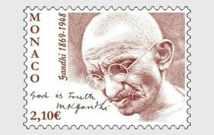 Monaco-2019-Mahatma-Gandhi-India-Indian-theme-Stamp-1v-MNH