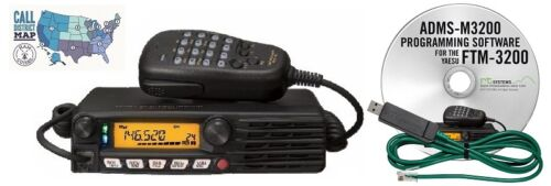 Software//Cable Kit Yaesu FTM-3200DR VHF Mobile Transceiver w// RT Systems Prog