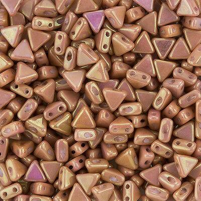 K103//6 Kheops® Par Puca® 2 Hole Czech Glass Seed Beads Dark Bronze 6mm 9g