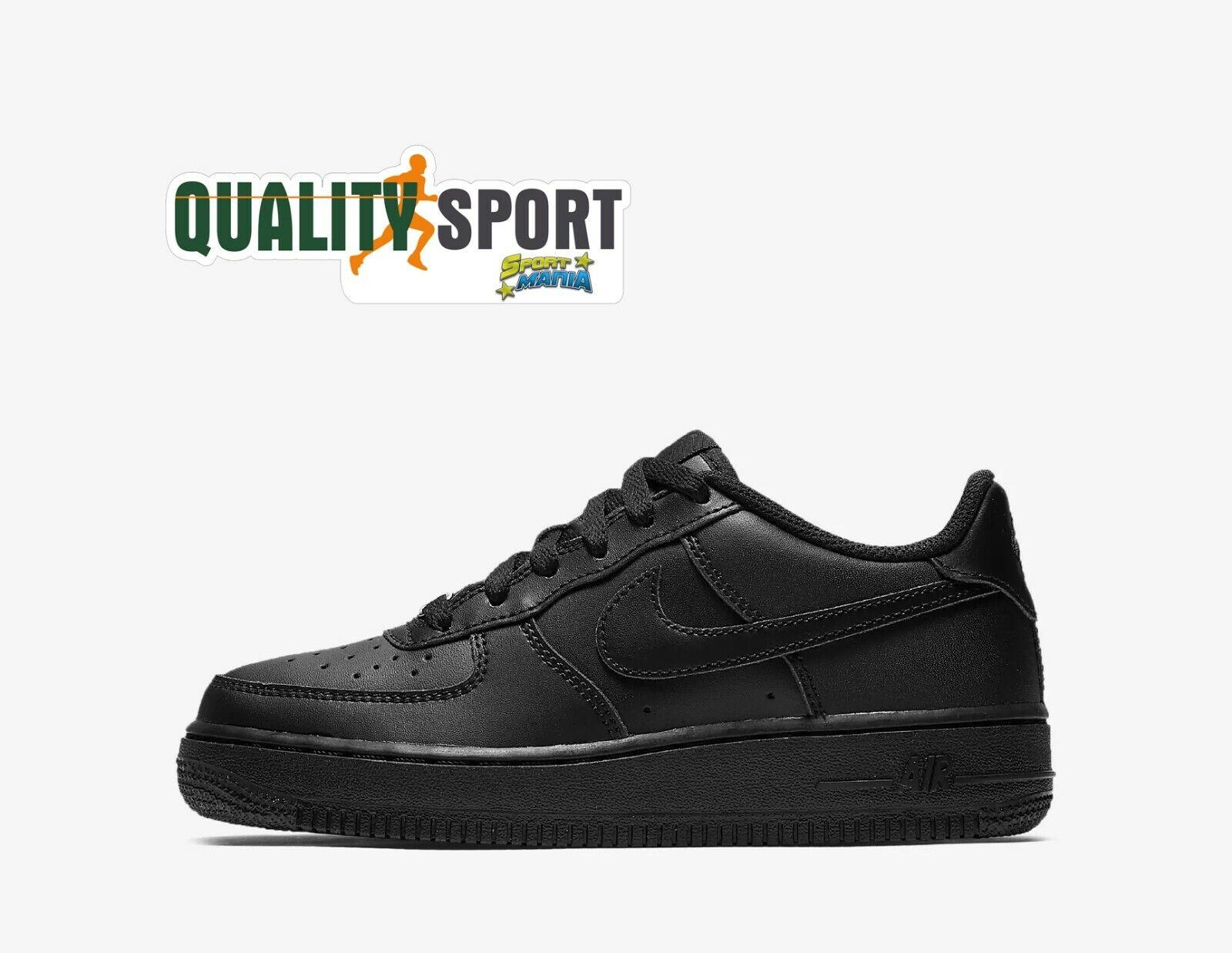 Nike Air Force 1 Schwarz Schuhe Frau Junge Turnschuhe 314192 009 2019