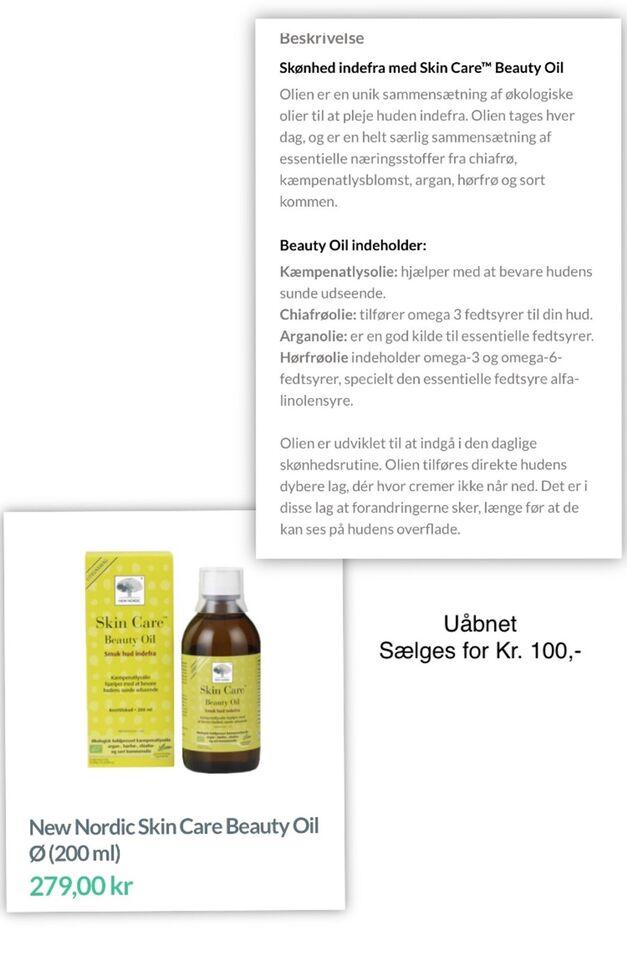 Hudpleje, Kosttilskud - skin Care , New Nordic skin Care