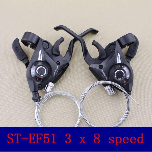 1 Pair 3x8 24 Speed Shifter//Brake Dual Control Lever Set for Shimano MTB Bike