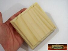 """M00525a MOREZMORE 1 Unfinished 4"""" Square Wood Base Wooden Plaque Stand T20A"""