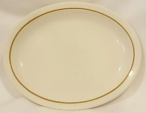 Homer-Laughlin-Vintage-Serving-Platter-Plate-Best-China-USA-Brown-Rim-Restaurant