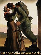 PROPAGANDA WWII MOTHER SON KISS LARGE POSTER ART PRINT BB2813A