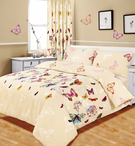 Butterfly Glaze Duvet Quilt Cover Bedding Set w// Pillowcases Curtains All Sizes