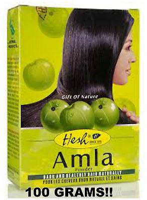 BUY 4 GET 1 FREE Hesh Herbal Amla Powder 100g Indian Gooseberry Emblic Myrobalan