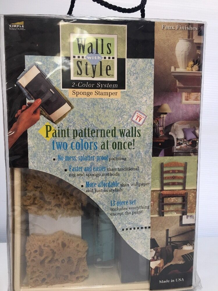 Walls w/ Style 2 Farbe System TWIN ROLLER Sponge Stamper Faux Finishes Painting