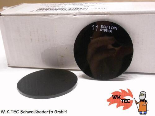 Schweißermaske Din11 rund 50 mm Schweißglas;Vorsatzglas;Schweißerschutzglas