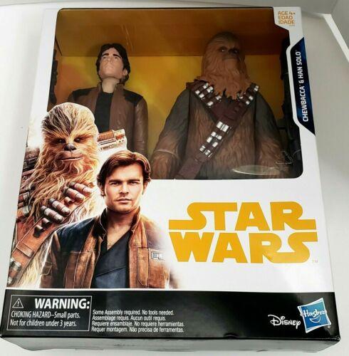 """Star Wars Chewbacca et Han Solo 2 Pack 12/"""" pouces de hauteur Hasbro Action Figures"""