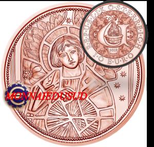 10 Euro Commémorative Autriche 2018 - Uriel L'Ange Protecteur