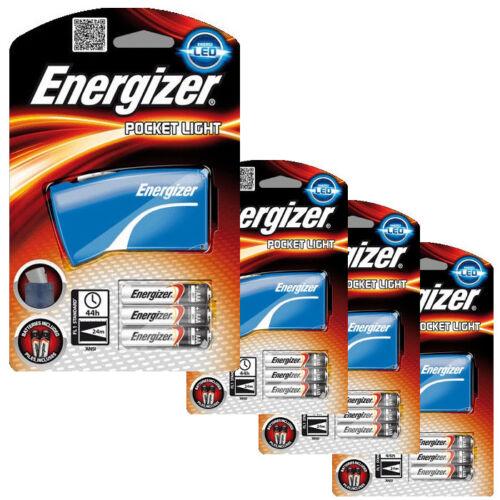 bleu 4 x Energizer DEL Poche Torche Lampe de poche 8 x piles AAA Inc