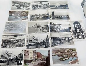 NEW-ZEALAND-c1940s-AUCKLAND-REAL-PHOTO-POSTCARDS-TOURIST-SOUVENIR-CARDS