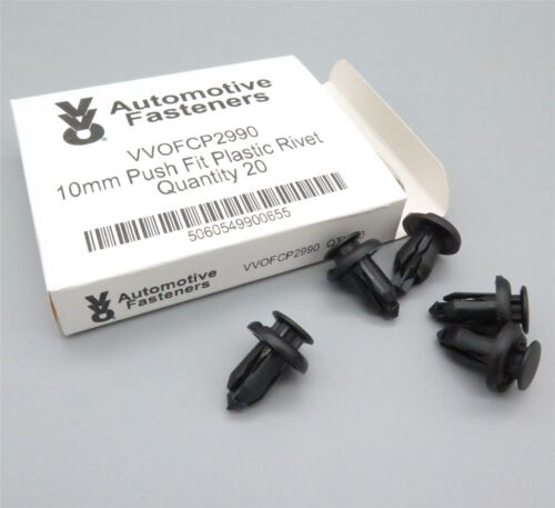 VVO Fasteners 10mm Plastic Bumper Clips for Honda Subaru /& Nissan Toyota