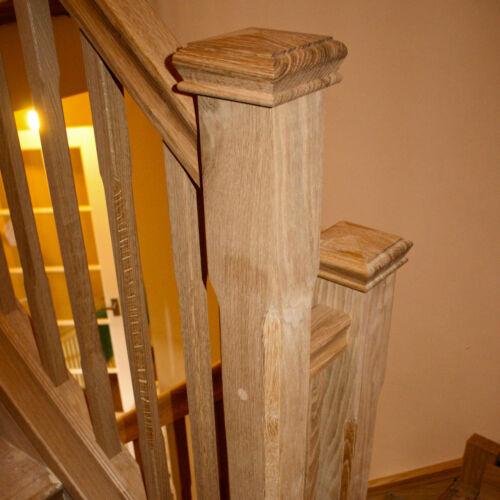 Oak Stop Chamfered Newel Post /& Pyramid Cap Replacement Kit