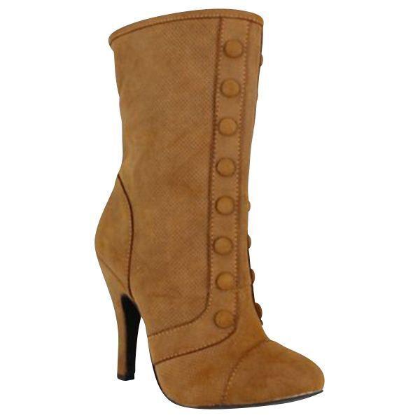 Women's Dolce Foxy Mid-Calf Boot Tan Size 8 #NJZU8-596