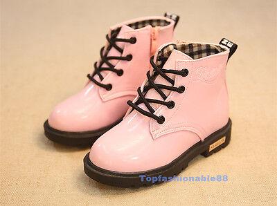 Fashion children boys girls martin boots kids snow boots shoes 4 colors Zipper