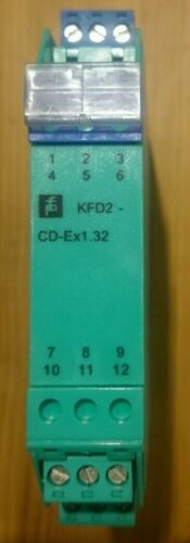 Pepperl Fuchs Transformateur isolé Driver KFD2-CD-Ex1.32 ex barrière Din Mount