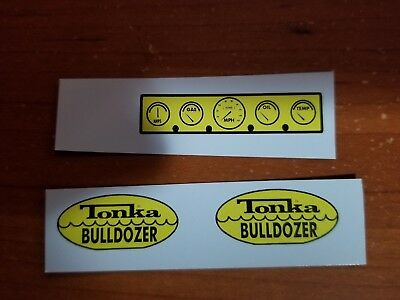 TONKA camion bulldozer Decal Set Avec Dash inclus