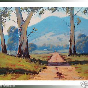 Listed-Artist-Australian-Painting-Oil-on-Canvas-Australia-Landscape-Painting