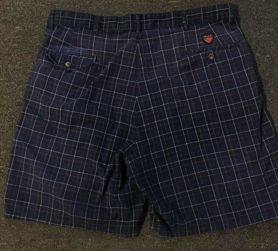 Vtg 90s Polo Ralph Lauren Classic Golf Plaid Shor… - image 4