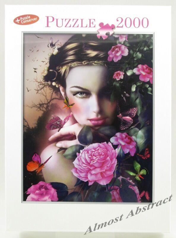 pink Dreams 2000 Piece Jigsaw Puzzle,  Romance, Flowers & Butterflies  New