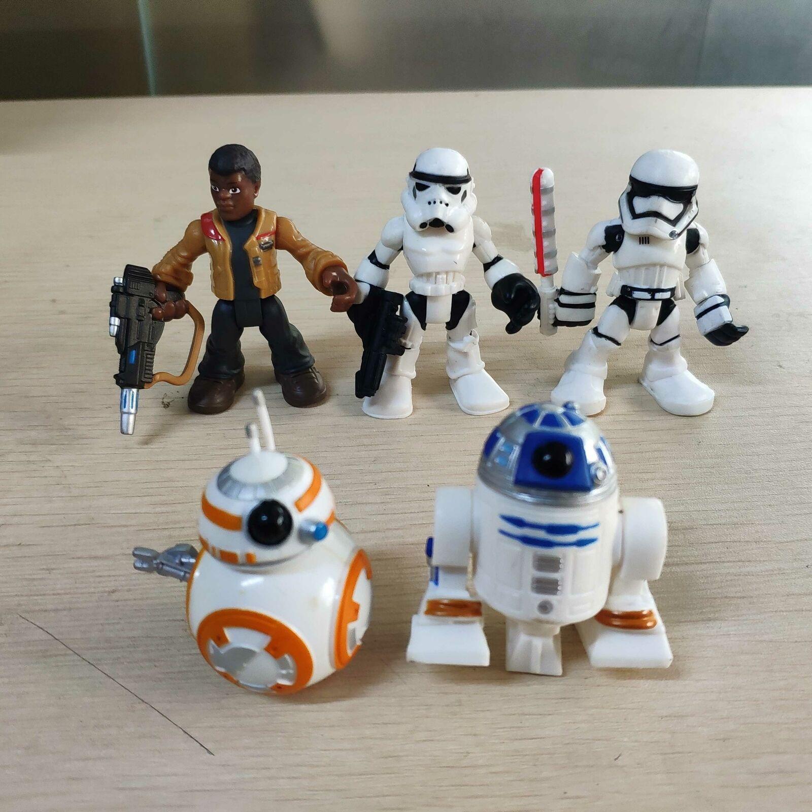 Lot of 3pcs Playskool Star Wars Galactic Heroes Last Jedi Rey BB-8 Finn Figures