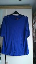 Womens size 20 purple top, new look inspire range, bnwt, gold button detail
