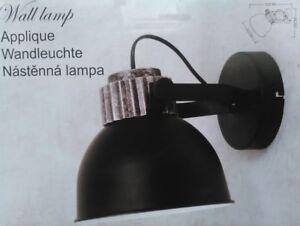 Applique lampe industrielle design cloche murale metal orientable