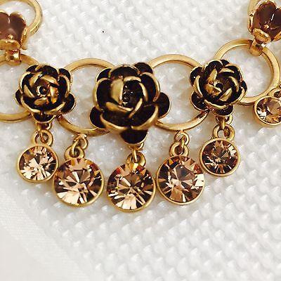 Pilgrim Necklace Genuine Swarovski crystal. Gold plate $12.99 FREE shipping