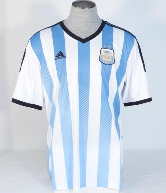 ab5c73297 Adidas ClimaCool Argentina 2014 World Cup Home Soccer Football Jersey Mens  NWT