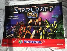 StarCraft 64 Store Display Banner (1994) Official Nintendo 64 Promo Item