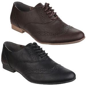 mejores zapatillas de deporte abbd1 8c82e Detalles de Divaz Levato Zapatos Oxford Mujer Detalle en los Bordes Derby  Cordones