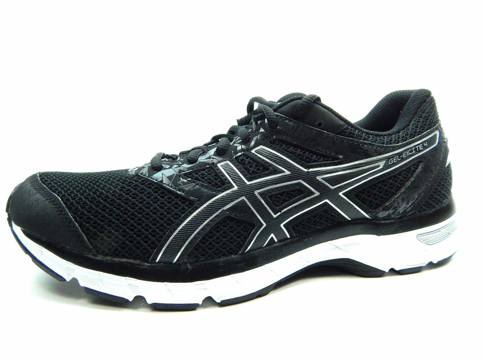 ASICS para hombre GEL EXCITE 4 T6E3N Ónice Negro Plata hombres zapatos talla 9
