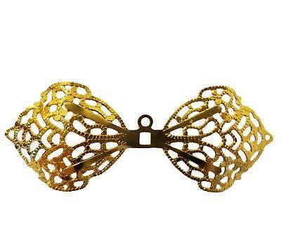 20 Pz. Oro Filigrana Metallo Miniatura Ali Angelo Fata Bambola Ornamento Di Funzionalità Eccezionali